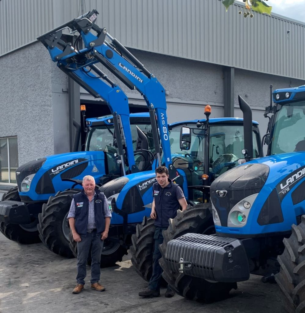 Pat and Cathal Brogan with Landini tractors.