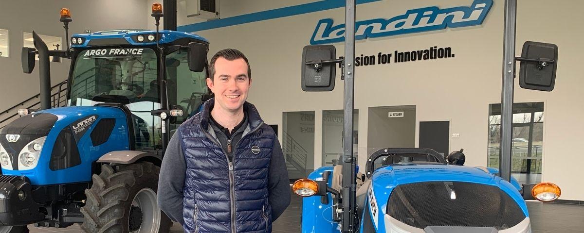 Jacky Hamon commercial tracteurs auprès de concessionnaire Landini chez Argo France