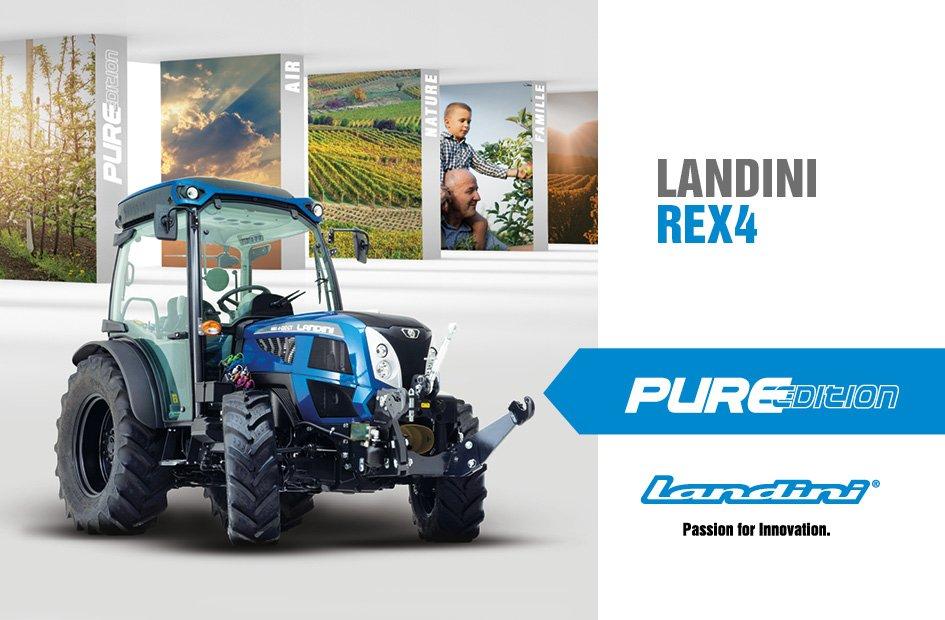 Photo d'un Rex4 et mention de le Pure Edition Landini.